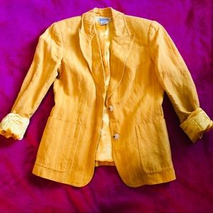 MICHAEL KORS Yellow Striped Blazer